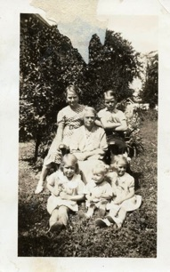 Maude (Hall) Raitt and children